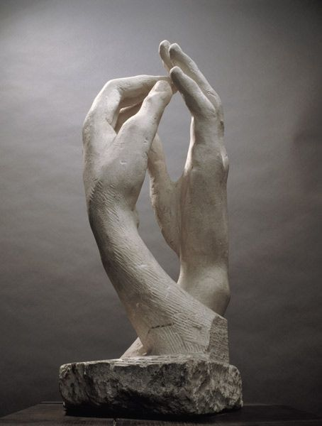 Sculpture of hands_Rodin