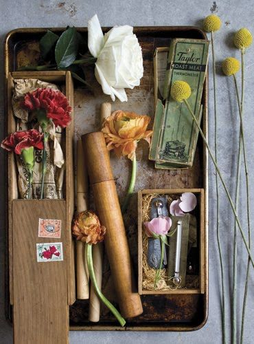 vintage collection with flowers