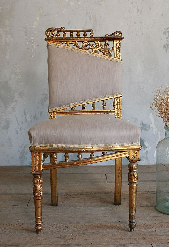 Vintage Gilt Side Chair_Paris Hotel Boutique