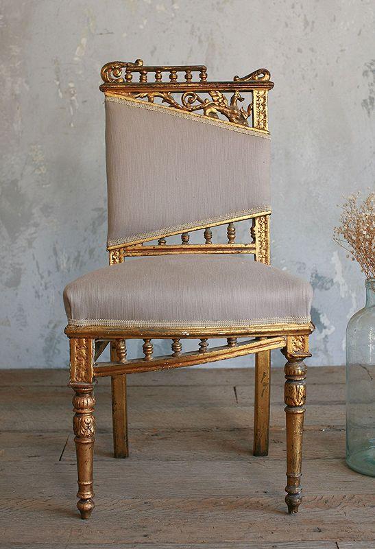 Vintage Gilt Side Chair_Paris Hotel Boutique