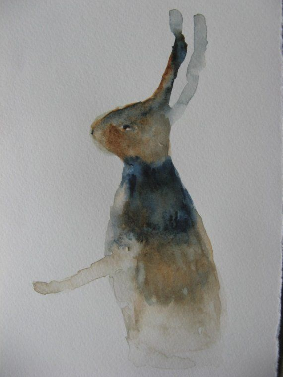 watercolor hare found on etsy