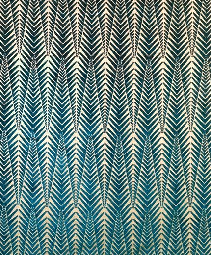 Zebra Cut Velvet Fabric in Silver Blue by Neisha Crosland