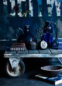blue-collection-on-cart