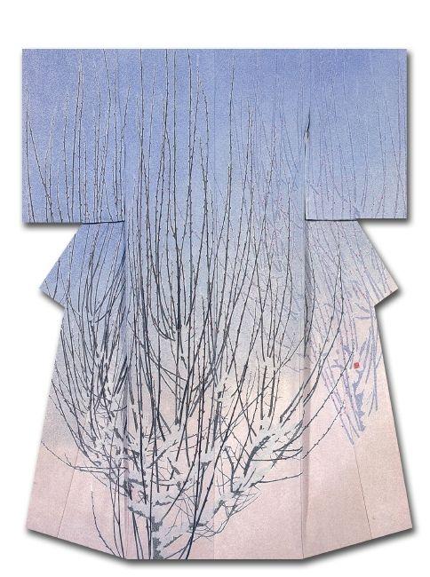 Brean Sprouts Silk kimono created by Uemura Beikasame