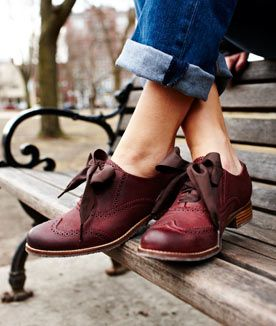 burgandy shoes