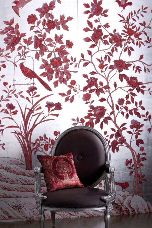 burgandy wallpaper