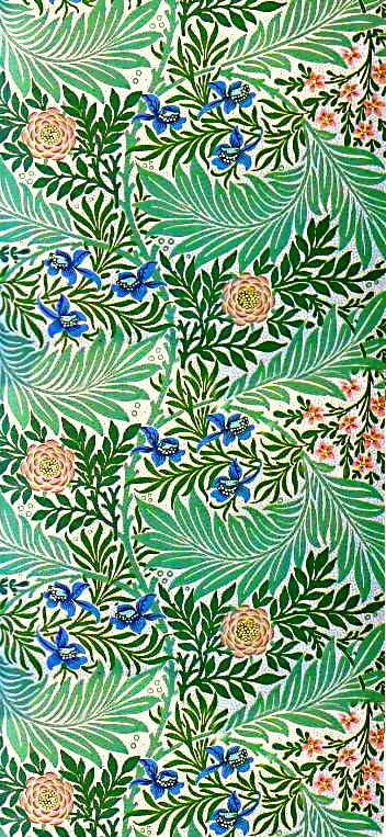 coquita plant pattern green