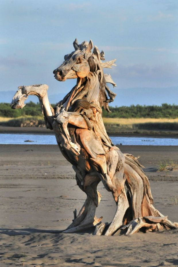 Driftwood art - Artist Jeff Uitto