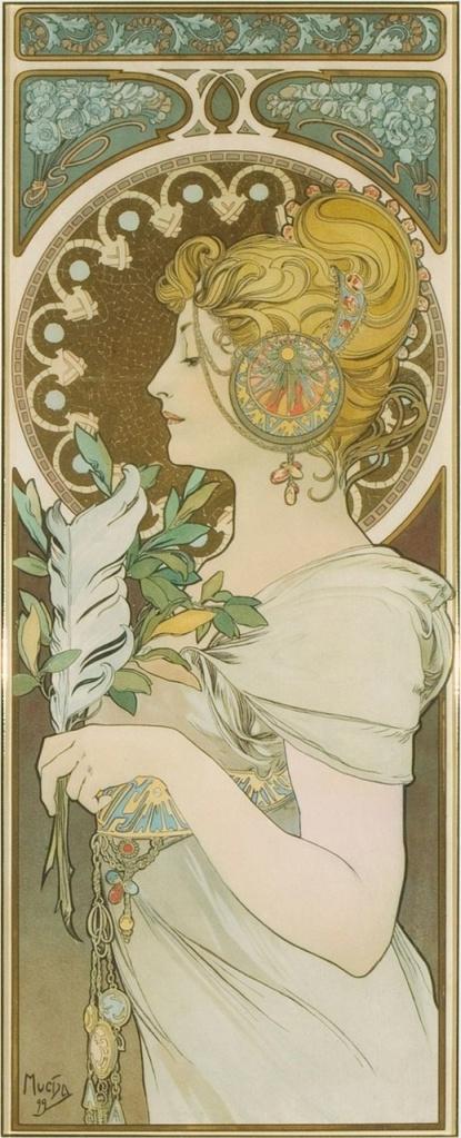 La Plume By Alphonse Mucha