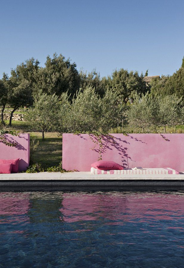 pink pool wall