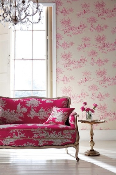 pink toile