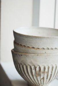 soft white bowls