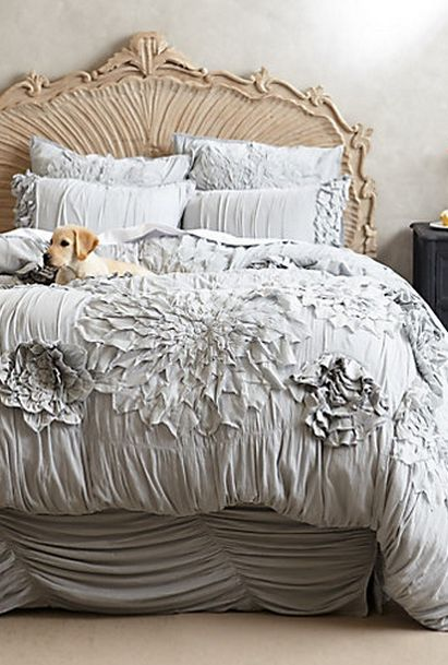 white bedding_dog