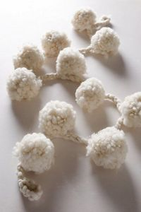 white pom garland