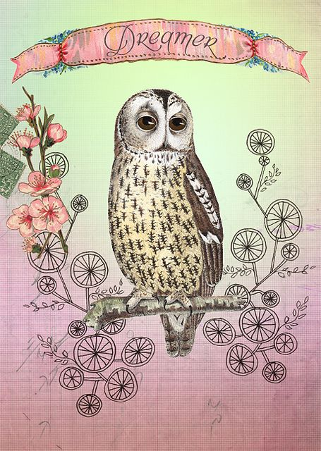 Dreamy Owl by Anahata Katkin, PAPAYA Inc.