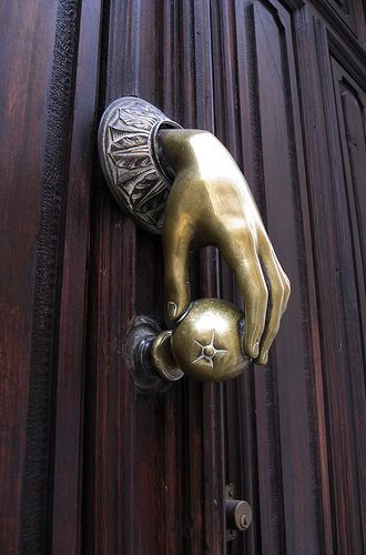 apple in hand doorknocker