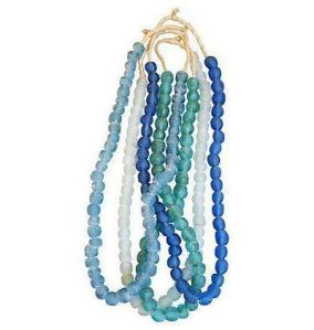 Blue & Turquoise Sea Glass Bead Strands