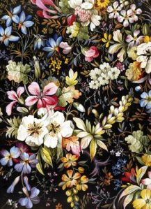 Flowered Textile Design, by William Kilburn