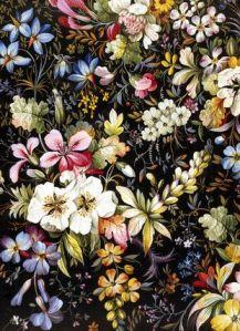 Flowered Textile Design, by William Kilburn