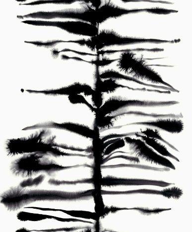 Luli Sanchez_black, white stem