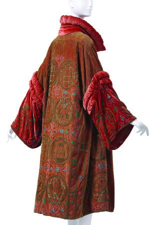 Madame Havet (French) Evening Coat, 1928, beaded and embroidered velvet. Collection of Phoenix Art Museum