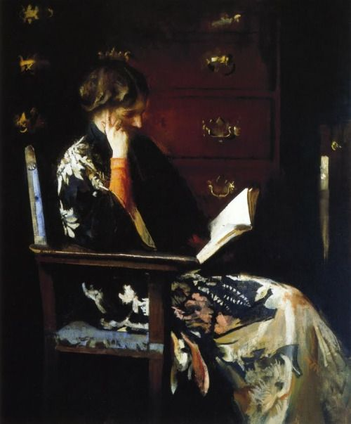 Mary Reading (1917), by Edmund Tarbell