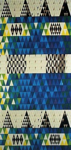 Sven Markelius, Pythagoras textile produced by Ljungbergs Textilyck for Nordiska Kompaniet, 1952