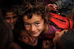 Syrian refugee children in Lebanon by Ruth Moucharafieh