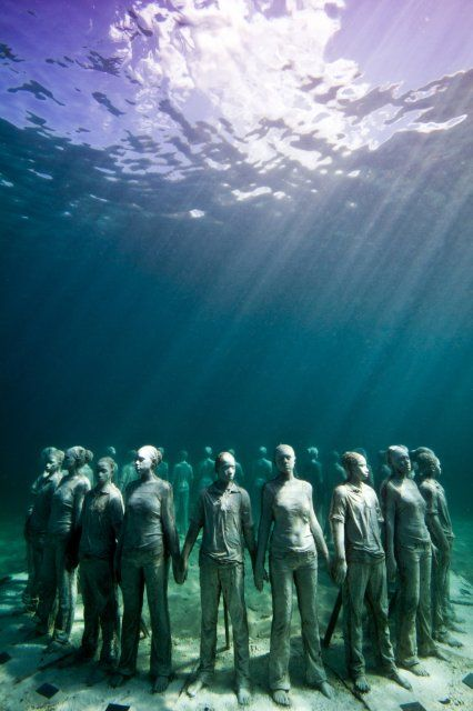 Underwater Sculpture by Jason deCaires Taylor, Grenada, West Indies