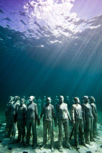 Underwater Sculpture by Jason deCaires Taylor, Grenada, West Indies