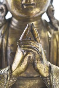 Uttarabodhi mudra, the mudra of supreme enlightenment