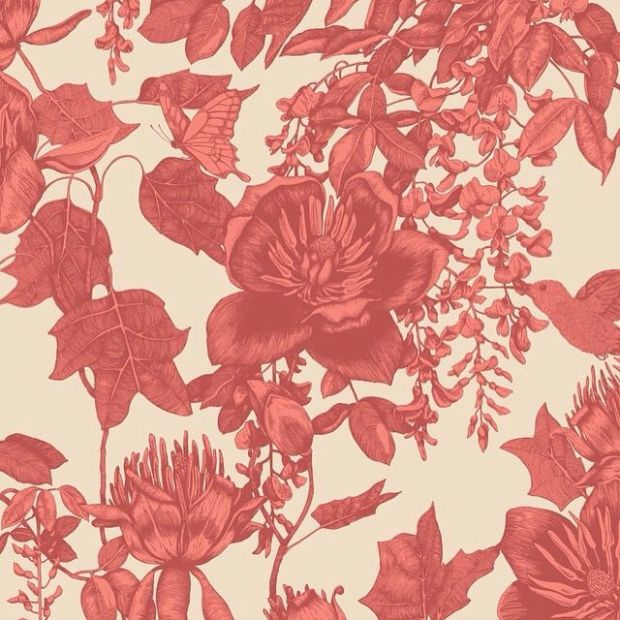 vintage red wallpaper