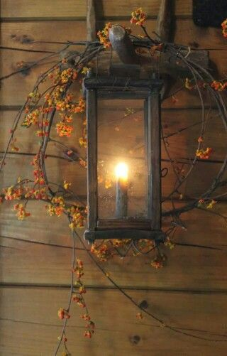 autumn cottage lantern