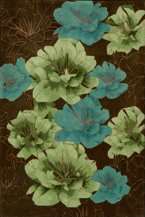 joshua-blossom-chocolate-blue-green-rug-nourison