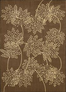 lacey leaf brown rug (nourison)