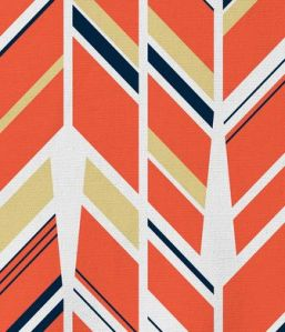 Up and Down Tangerine Inspired Fabric by Andi Pahl