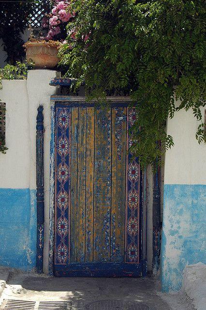 Door to home inside Kasbah, Rabat by amerune on Flickr
