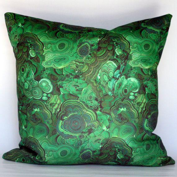 Malachite Decorative Pillow Cover via etsy