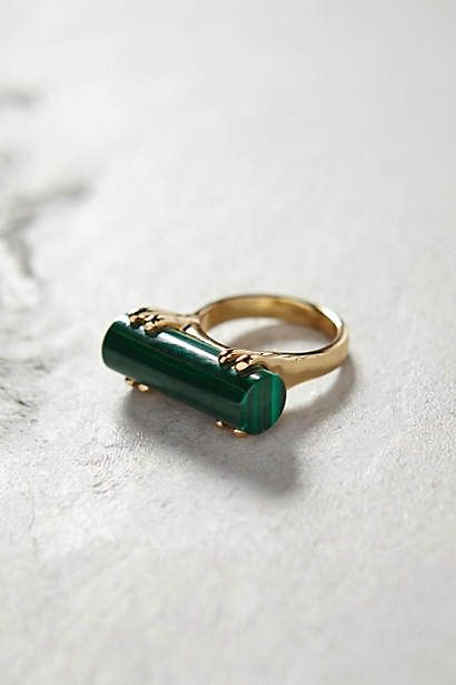 Malachite Wedge Ring via anthropologie
