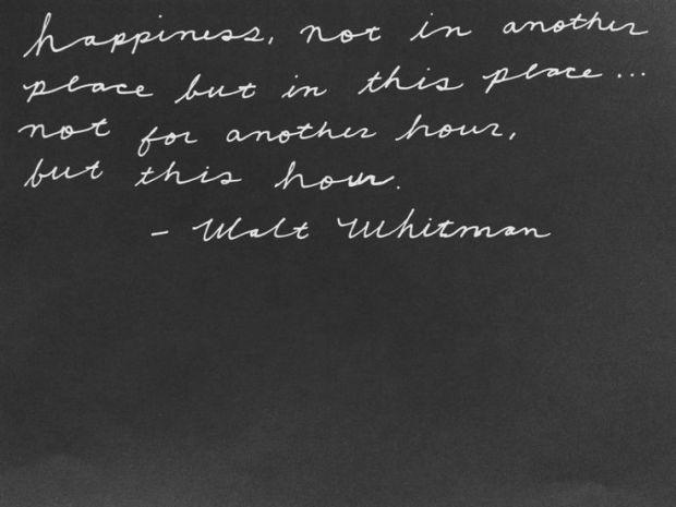 walt whitman via agentlewoman