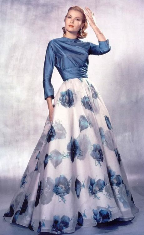 Grace Kelly in blue and white