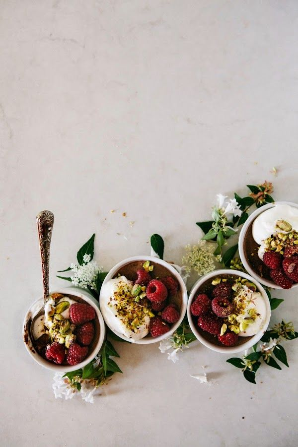Hummingbird High_Salted Chocolate, Raspberry and Pistachio Pots de Crème
