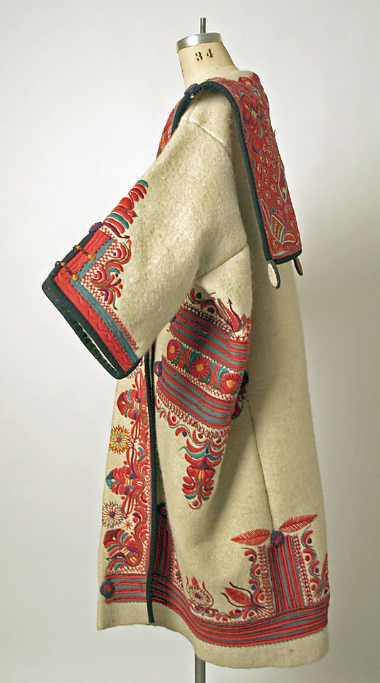Hungary - wool coat, ca. 1900-1939 via metmuseumdotor