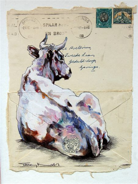 Envelope Art - South African artist Terry Kobus