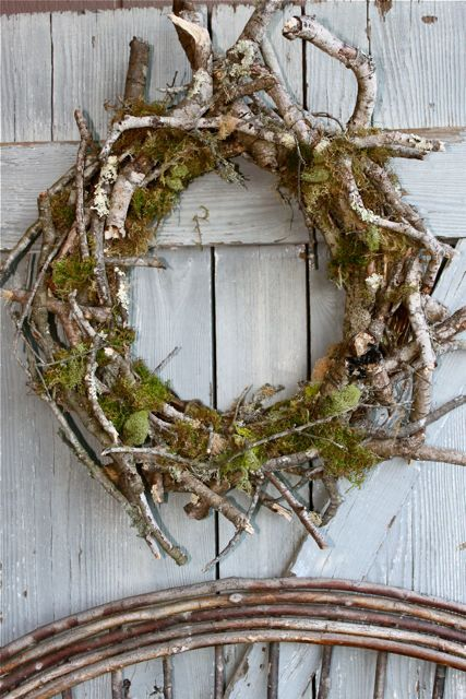 moss and twig wreath via etsy