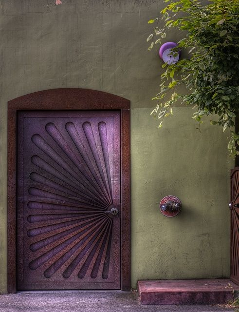 purple door saved from Flickr