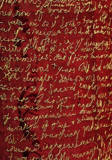 Rosalind Wyatt The Stitch Lives of London - hand stitched handwriting