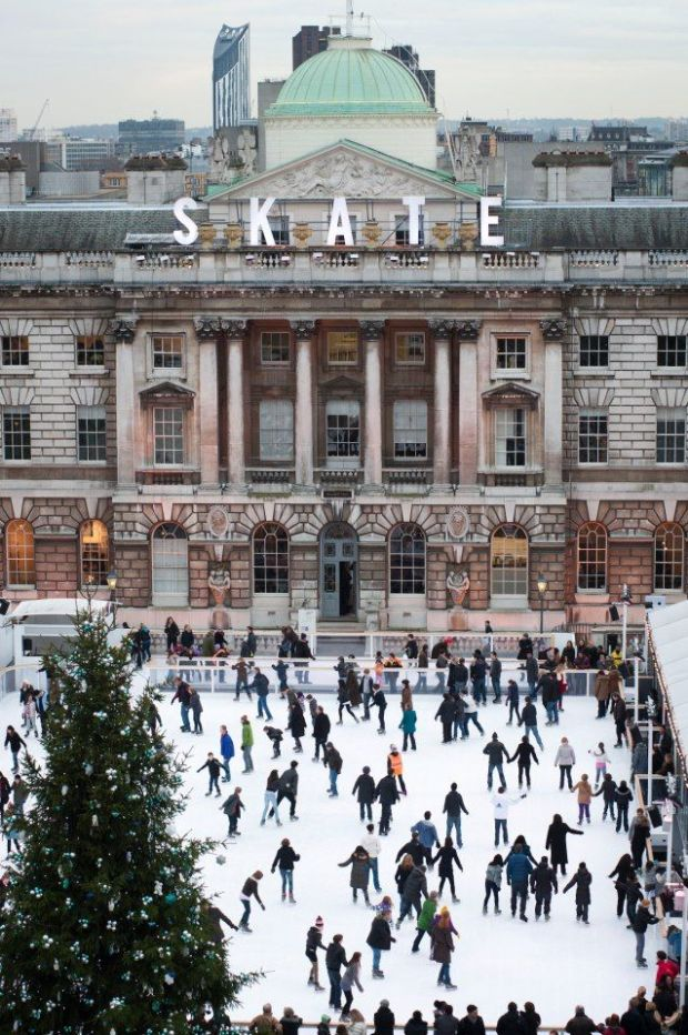 Winter skating, Somerset House, London via TimeOutLondon