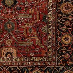 Antique Heriz Oriental Rug SKU 404005