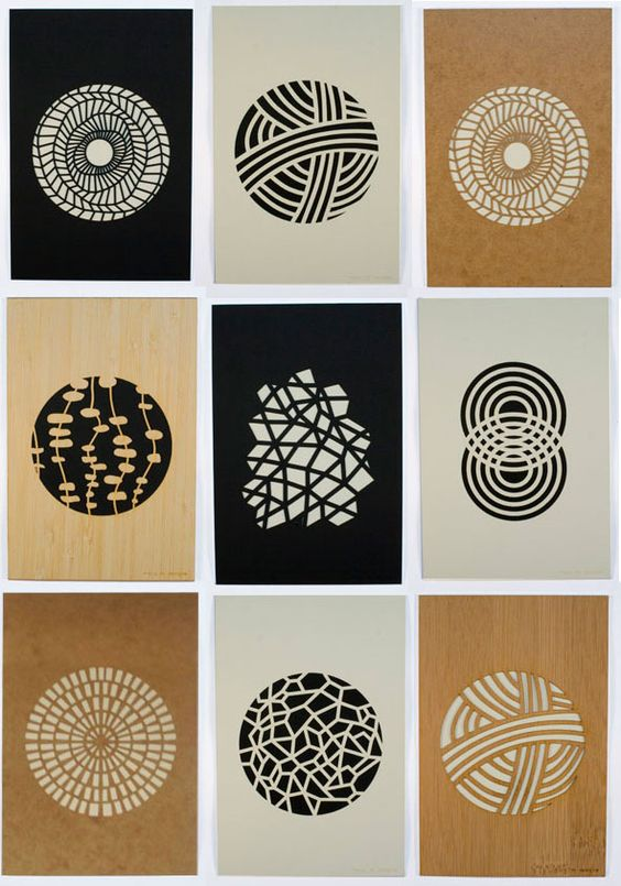 Beautiful laser cut prints by Molly M Design